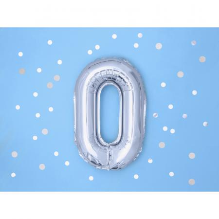 Balon Folie Litera O Argintiu, 35 cm1
