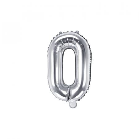 Balon Folie Litera O Argintiu, 35 cm0