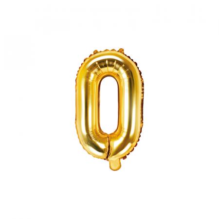 Balon Folie Litera O Auriu, 35 cm [0]