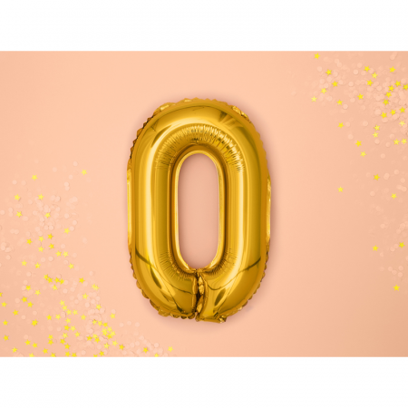 Balon Folie Litera O Auriu, 35 cm [1]