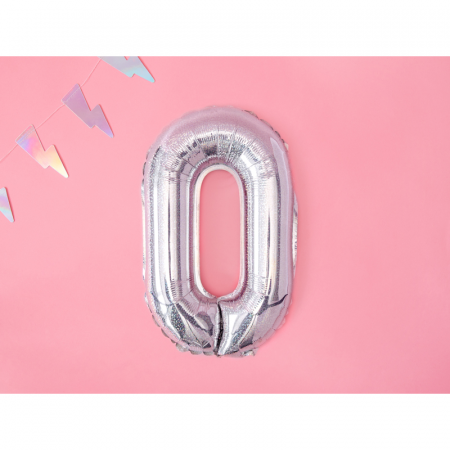Balon Folie Litera O Holografic, 35 cm1