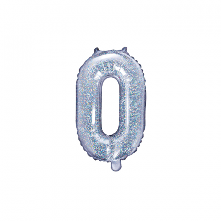 Balon Folie Litera O Holografic, 35 cm0