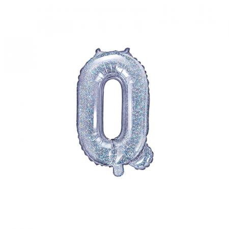Balon Folie Litera Q Holografic, 35 cm0