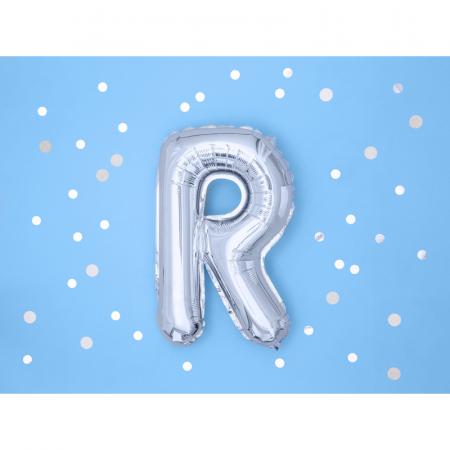Balon Folie Litera R Argintiu, 35 cm1