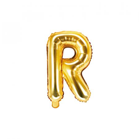 Balon Folie Litera R Auriu, 35 cm0