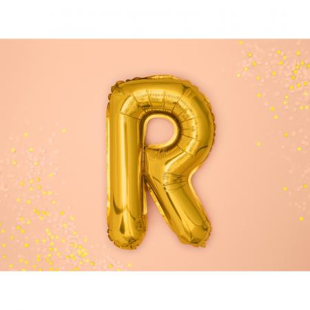 Balon Folie Litera R Auriu, 35 cm1