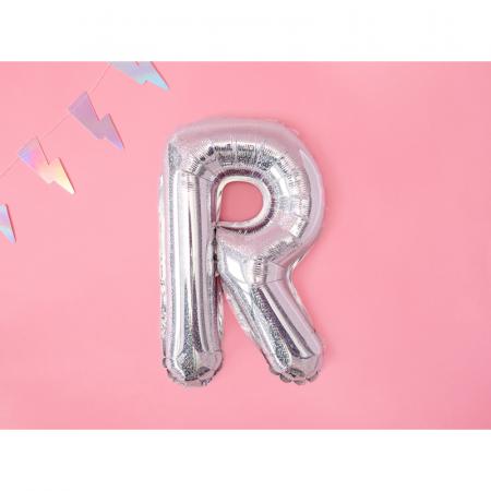 Balon Folie Litera R Holografic, 35 cm [1]