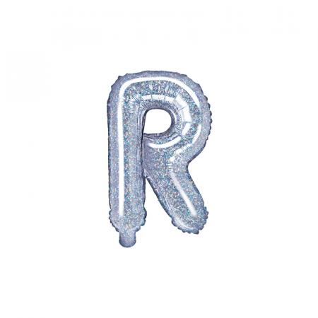 Balon Folie Litera R Holografic, 35 cm [0]