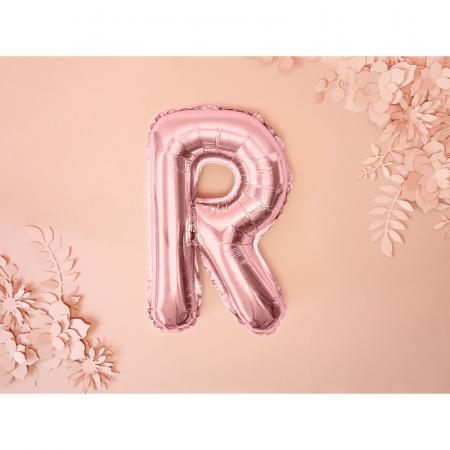 Balon Folie Litera R Roz 35 cm1