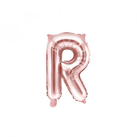Balon Folie Litera R Roz 35 cm0
