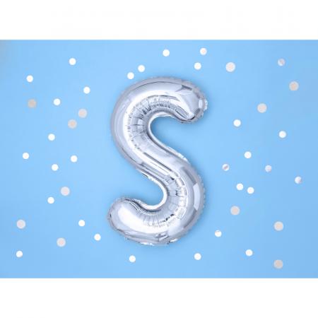 Balon Folie Litera S Argintiu, 35 cm1