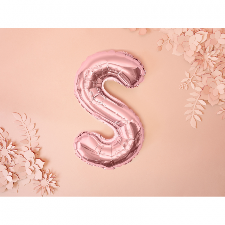 Balon Folie Litera S Roz, 35 cm1