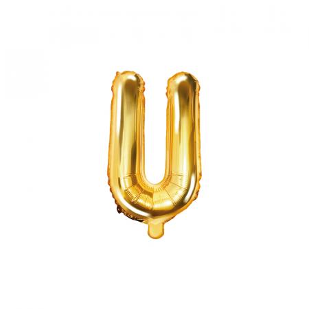 Balon Folie Litera U Auriu, 35 cm [0]