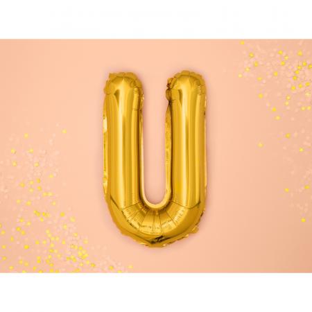 Balon Folie Litera U Auriu, 35 cm [1]