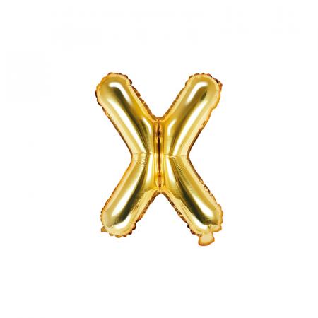 Balon Folie Litera X Auriu, 35 cm [0]