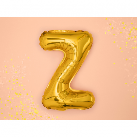 Balon Folie Litera Z Auriu, 35 cm1