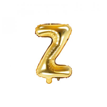 Balon Folie Litera Z Auriu, 35 cm0