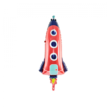 Balon Folie Racheta Spatiala - 44x115 cm0