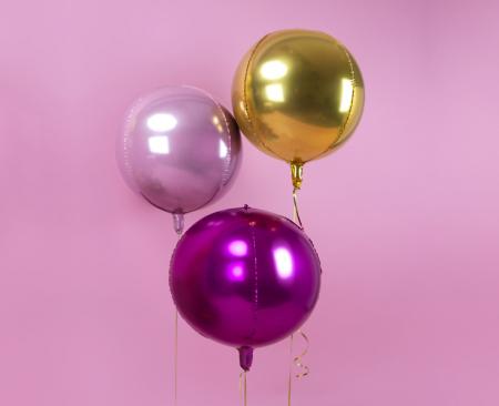 Balon Folie Sfera Roz Aprins - 40 cm1