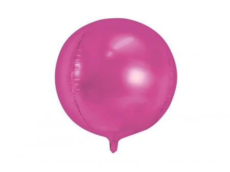 Balon Folie Sfera Roz Aprins - 40 cm0