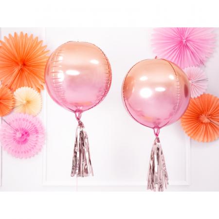 Balon Folie Roz-Portocaliu - 40 cm1