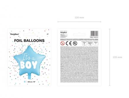 Balon Folie Stea, It's a Boy - 48 cm7