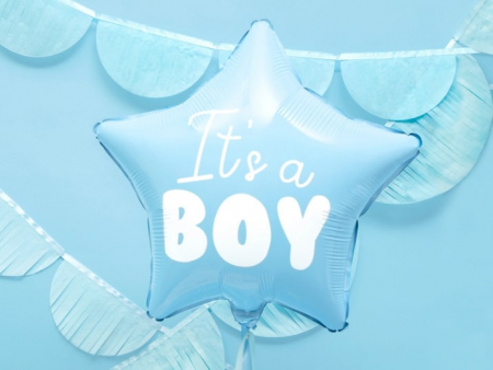 Balon Folie Stea, It's a Boy - 48 cm5