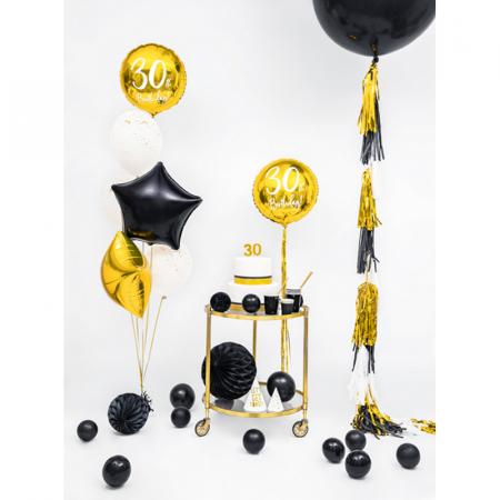 Balon Folie Stea, Negru - 48 cm3
