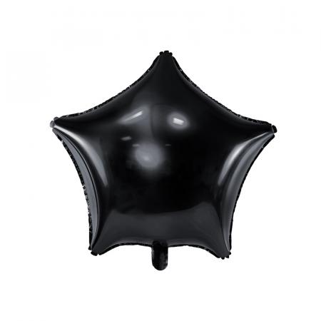 Balon Folie Stea, Negru - 48 cm0