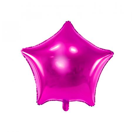 Balon Folie Stea, Roz - 48 cm0