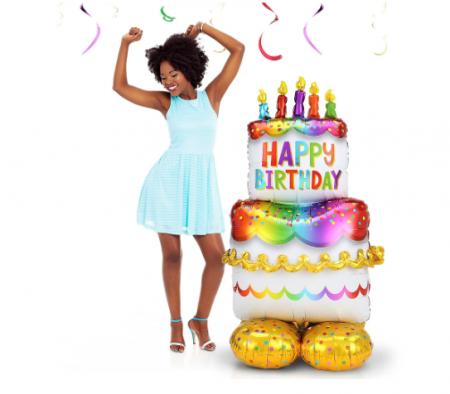 Balon Folie Tort Happy Birthday - 127 cm1