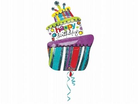 Balon Folie Tort Happy Birthday - 61x94 cm1