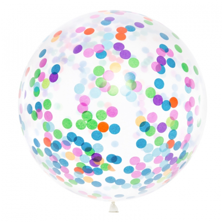 Balon Jumbo Confetti - 100 cm0