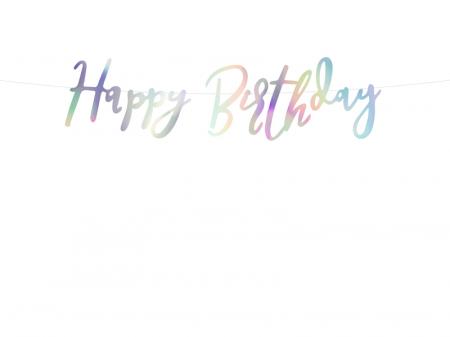 Banner Happy Birthday, Iridescent0