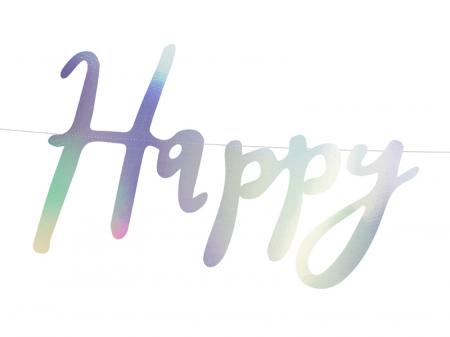 Banner Happy Birthday, Iridescent1