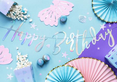 Banner Happy Birthday, Iridescent2