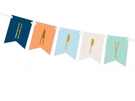 Banner Happy Birthday Mix, Albastru1