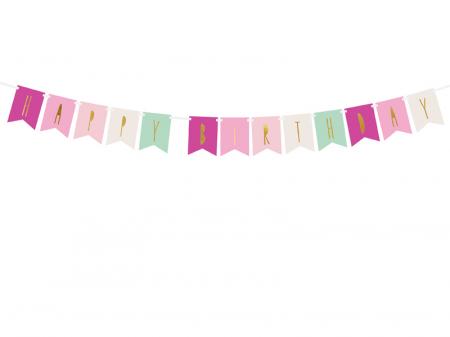 Banner Happy Birthday Mix, Roz [0]