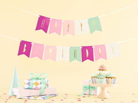 Banner Happy Birthday Mix, Roz [3]