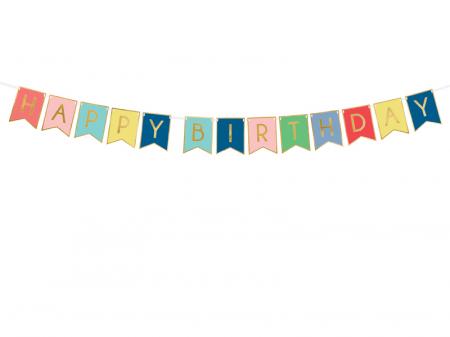 Banner Happy Birthday, Multicolor [0]