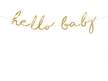 Banner Hello Baby, Auriu [0]