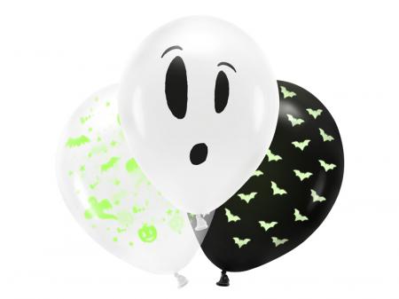 Set 3 Baloane Halloween Fosforescente - 27 cm [0]