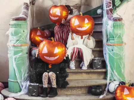 Balon Folie Dovleac Halloween - 40x40 cm [1]