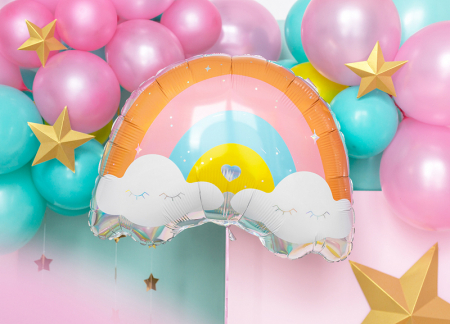 Balon Folie Curcubeu - 55x40 cm [2]