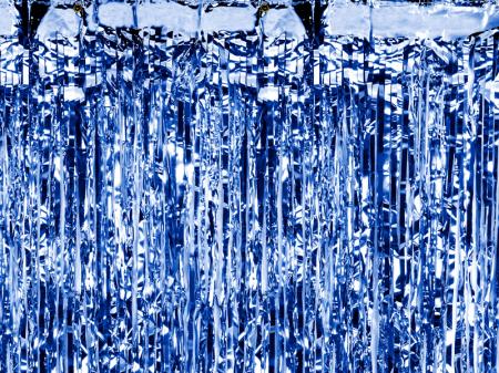 Perdea Decorativa, Albastru -  90x250 cm0