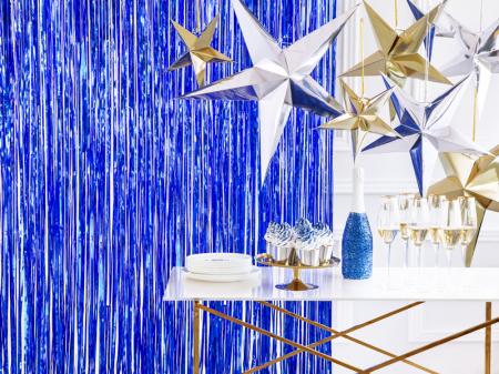 Perdea Decorativa, Albastru -  90x250 cm1