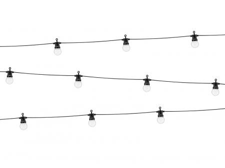 Ghirlanda Luminoasa Led, 5+3 M, Interconectabila, Negru, 10 becuri0