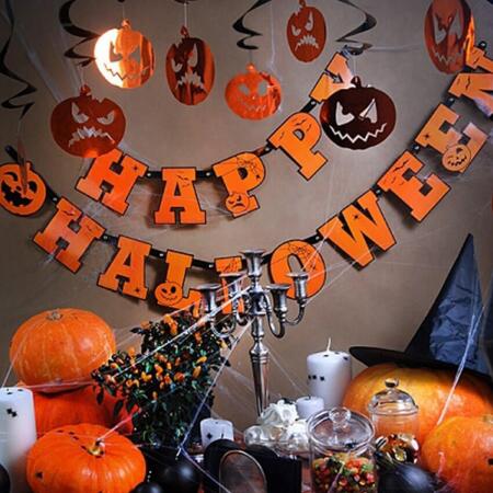 Ghirlande Halloween, dovleci1