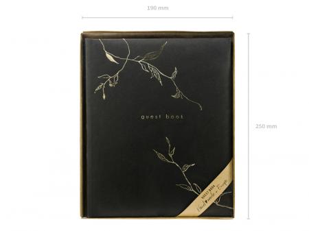 Guest Book Negru - Crengute3