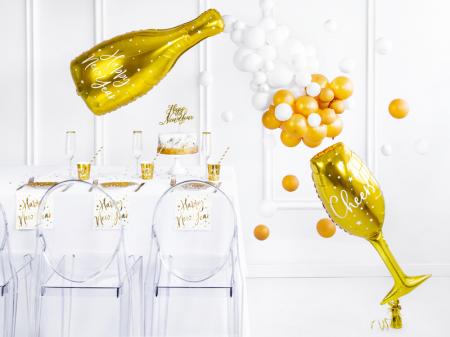 Set 6 Pahare Aurii Anul Nou, 220 ml2